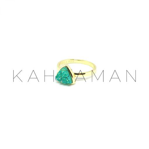Ασημένιο δαχτυλίδι επίχρυσο BA0003