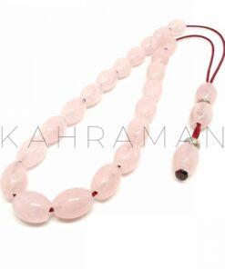 Κομπολόι ροζ χαλαζίας AC0159