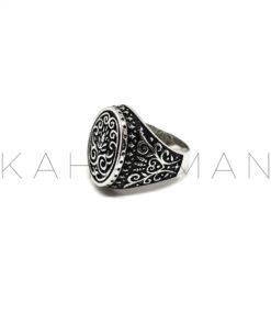 Ανδρικό δαχτυλίδι από ασήμι BA0113
