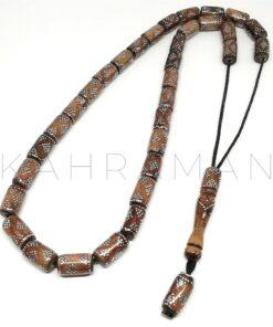 Κομπολόι κόκκαλο καμήλας κεντητό AE0065