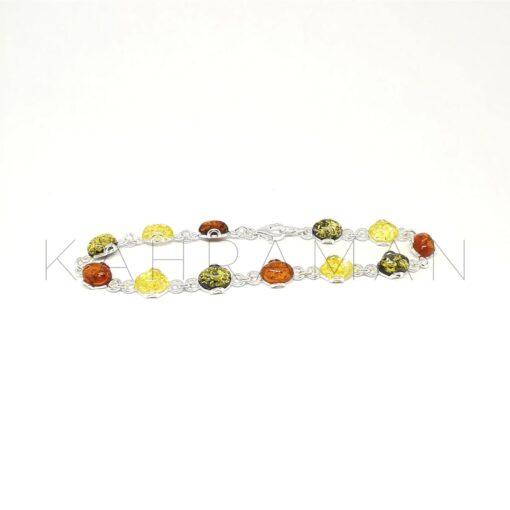 Ασημένιο βραχιόλι με κεχριμπάρι BB0255