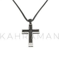 Ανδρικός σταυρός από ατσάλι BF0024