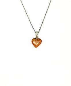 Ασημένιο κολιέ καρδιά BC0147