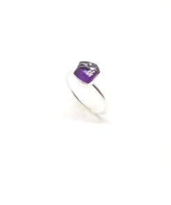 Χειροποίητο δαχτυλίδι με αμέθυστο BA0174