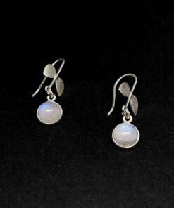 Χειροποίητα σκουλαρίκια με φεγγαρόπετρα BD0112