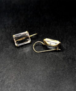 Sterling silver earrings with quartz BD0122