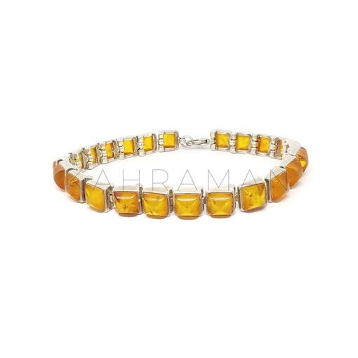 Βραχιόλι κεχριμπάρι με ασήμι BB0315